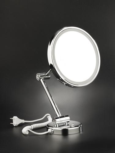 espejo pared redondo luz led