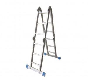 Escalera multiusos doble 4 tramos 3 pelda os for Escalera multiusos