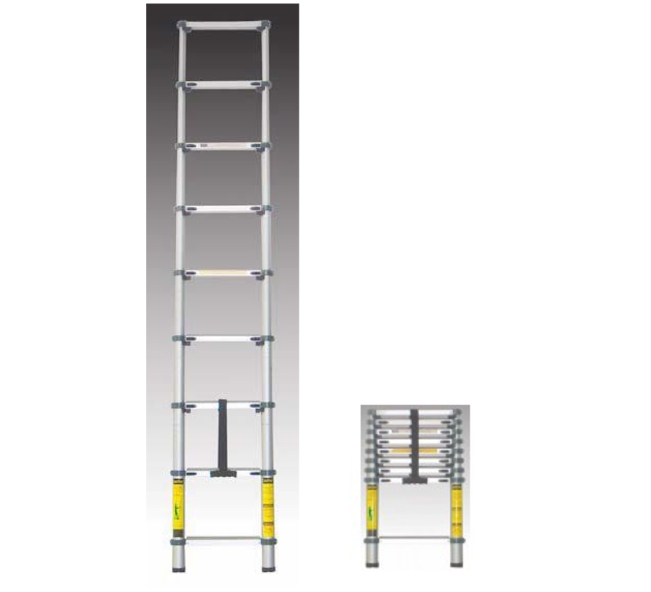 Escalera telesc pica aluminio 8 pelda os for Escalera telescopica aluminio