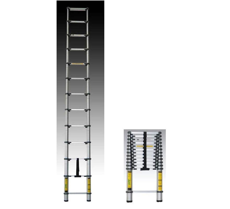 Escalera telesc pica aluminio 12 pelda os for Escalera telescopica aluminio