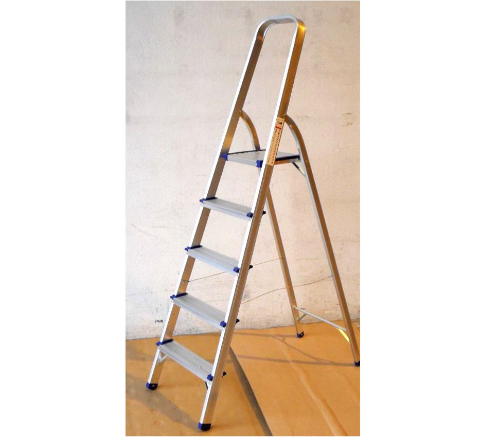 Escalera aluminio tijera 5 pelda os for Escaleras 5 peldanos